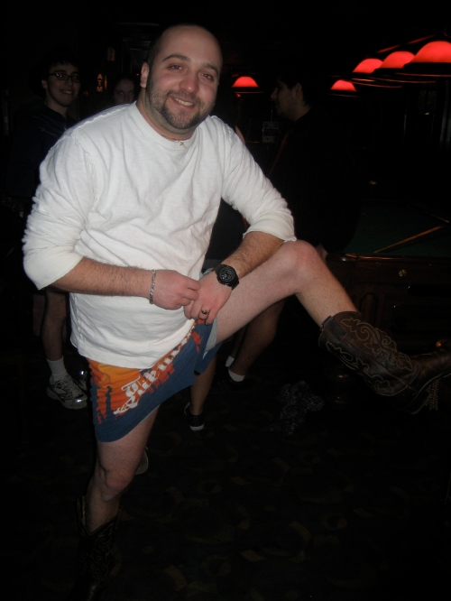 Asking random people to pose for pantsless pics: not that weird on No Pants Day.